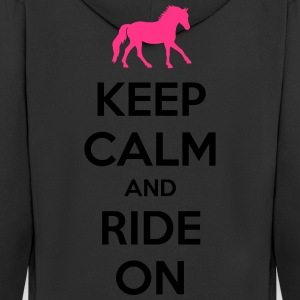 Keep Calm and Ride On Horse Design T-Shirts - Männer Premium Kapuzenjacke