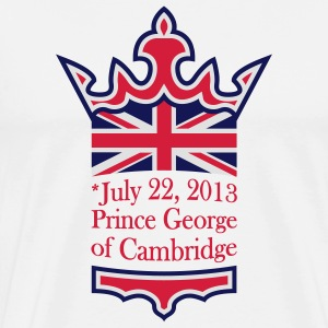 Prince George Buttons - Men's Premium T-Shirt