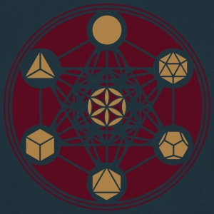 Platonic Solids, Metatrons Cube, Flower of Life Tröjor - T-shirt herr