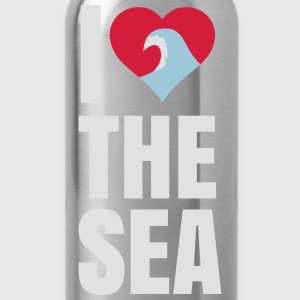 i love the sea ik hou van de zee T-shirts - Drinkfles