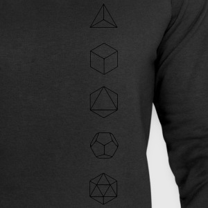 Platonic Solids, Sacred Geometry, Mathematics T-Shirts - Men's Sweatshirt by Stanley & Stella