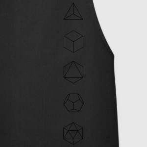 Platonic Solids, Sacred Geometry, Mathematics T-Shirts - Cooking Apron
