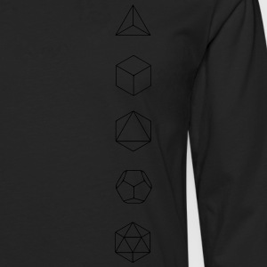 Platonic Solids, Sacred Geometry, Mathematics T-Shirts - Men's Premium Longsleeve Shirt