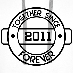 together since 2011 T-Shirts - Men's Premium Hoodie