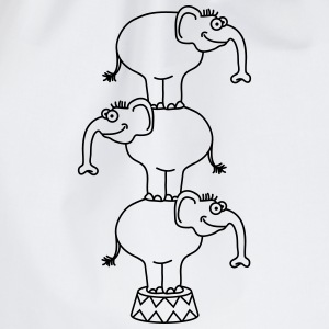 Circus Elephants T-shirts - Gymnastikpåse