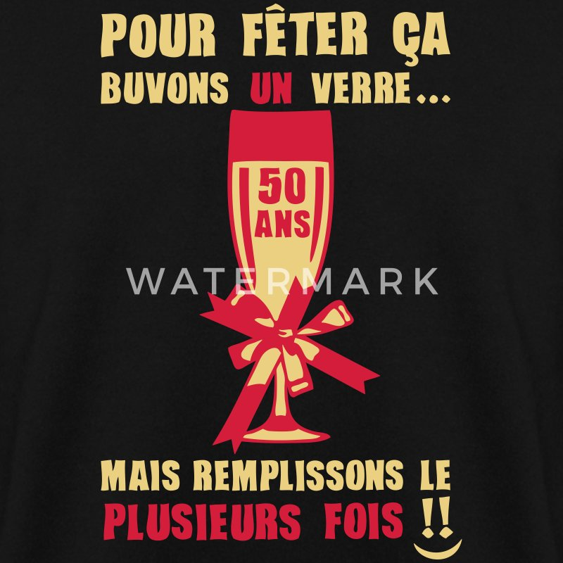 50 ans flute champagne verre anniversair Sweat-shirts - Sweat-shirt Homme