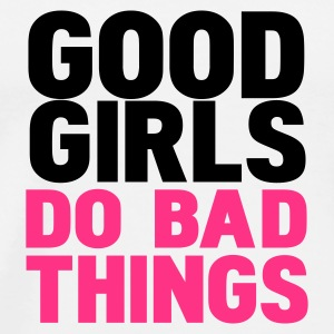 Blanc good girls do bad things Badges - T-shirt Premium Homme