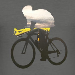 Cycling road cyclists 01 Bags & backpacks - Men's Slim Fit T-Shirt
