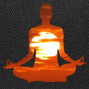 Yoga pose meditating in the sunset. 01 T-Shirts - Snapback Cap