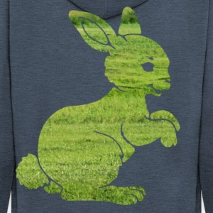 Easter bunny rabbit on the grass Sweet Child Motif Shirts - Men's Premium Hooded Jacket