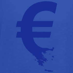 Euro Crisis Outline € T-Shirts - Women's Tank Top by Bella