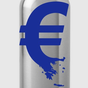 Euro Crisis Outline € T-Shirts - Water Bottle