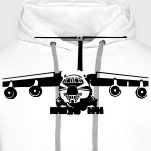 IL-76 transport aircraft T-Shirts - Men's Premium Hoodie