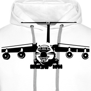 IL-76 transport aircraft Tee shirts - Sweat-shirt à capuche Premium pour hommes