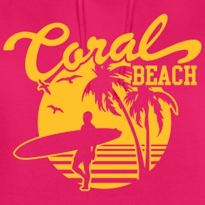 Coral Beach Surfers Heaven T-Shirts - Unisex Hoodie