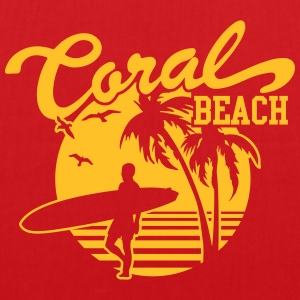 Coral Beach Surfers Heaven Tee shirts - Tote Bag