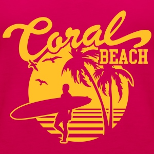 Coral Beach Surfers Heaven T-Shirts - Frauen Premium Tank Top