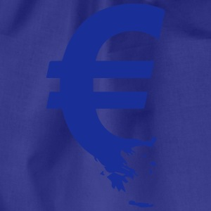 Euro Crisis Outline € T-Shirts - Drawstring Bag