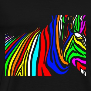 Colorful zebra colorful mythical beast Hoodies - Men's Premium T-Shirt