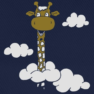 Royal blue Girafe in clouds Shirts - Baseball Cap