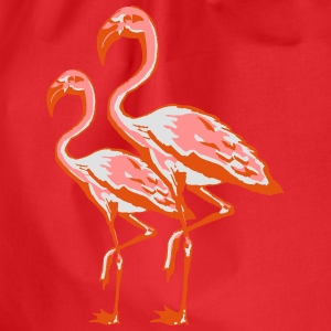 two flamingos T-shirts - Gymnastikpåse