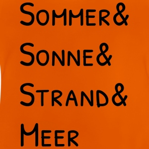 Sommer Sonne Strand und Meer T-Shirts - Baby T-Shirt