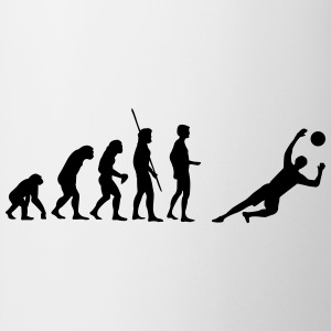 Portero Evolution guarda  Camisetas - Taza