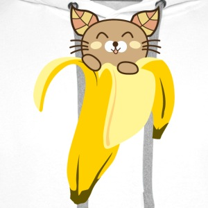 Banana Cat Women's T-Shirt - Men's Premium Hoodie