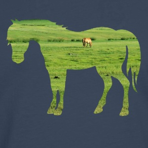 Horse on the pasture - Wide green meadows T-Shirts - Men's Premium Longsleeve Shirt