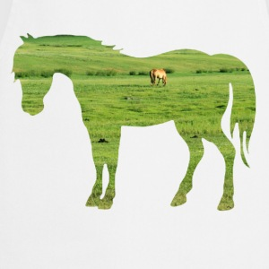 Horse on the pasture - Wide green meadows Shirts - Cooking Apron