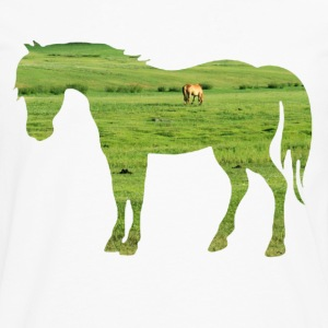 Horse on the pasture - Wide green meadows Shirts - Men's Premium Longsleeve Shirt