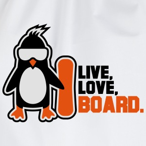 live love board T-Shirts - Drawstring Bag