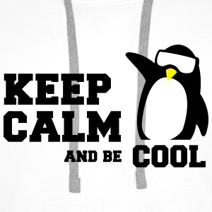 penguin keep calm T-Shirts - Men's Premium Hoodie
