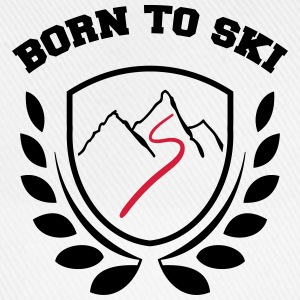 born to ski T-shirts - Basebollkeps