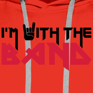 I'm with the Band Tee shirts - Sweat-shirt à capuche Premium pour hommes