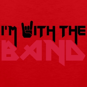 I'm with the Band T-shirts - Premiumtanktopp herr