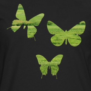 Butterflies on meadow spring summer T-Shirts - Men's Premium Longsleeve Shirt