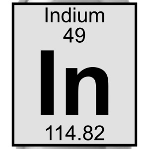 Indium (In) (element 49) - Water Bottle