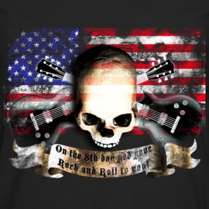 skull_and_flag_072013_usa_b T-Shirts - Männer Premium Langarmshirt