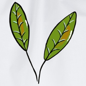 Leaves - green olive - Drawstring Bag