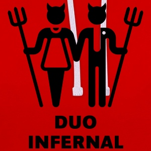 Duo Infernal Tee shirts - Sweat-shirt contraste