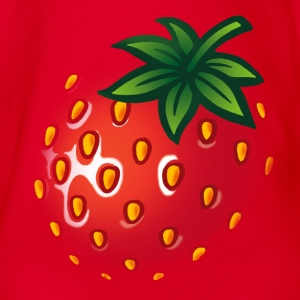 erdbeere_gross - strawberry big - Baby Bio-Kurzarm-Body