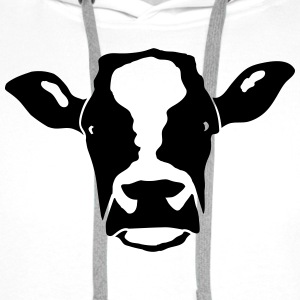 cow head T-Shirts - Men's Premium Hoodie