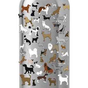 many dogs pixel T-Shirts - Water Bottle