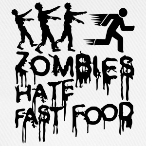 Zombies Hate Fast Food T-Shirts - Baseball Cap