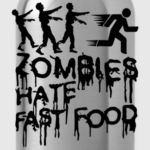 Zombies Hate Fast Food T-Shirts - Water Bottle