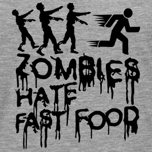 Zombies Hate Fast Food T-Shirts - Men's Premium Longsleeve Shirt