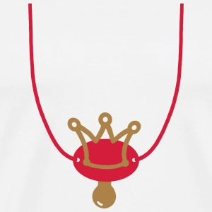 Crown Pacifier with chain Hoodies - Men's Premium T-Shirt