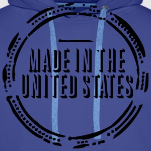 Made in the United States (stamp, 1c) Bags & backpacks - Men's Premium Hoodie