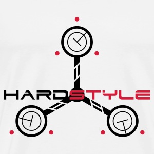 White Hardstyle Tech Edit Jumpers  - Men's Premium T-Shirt
